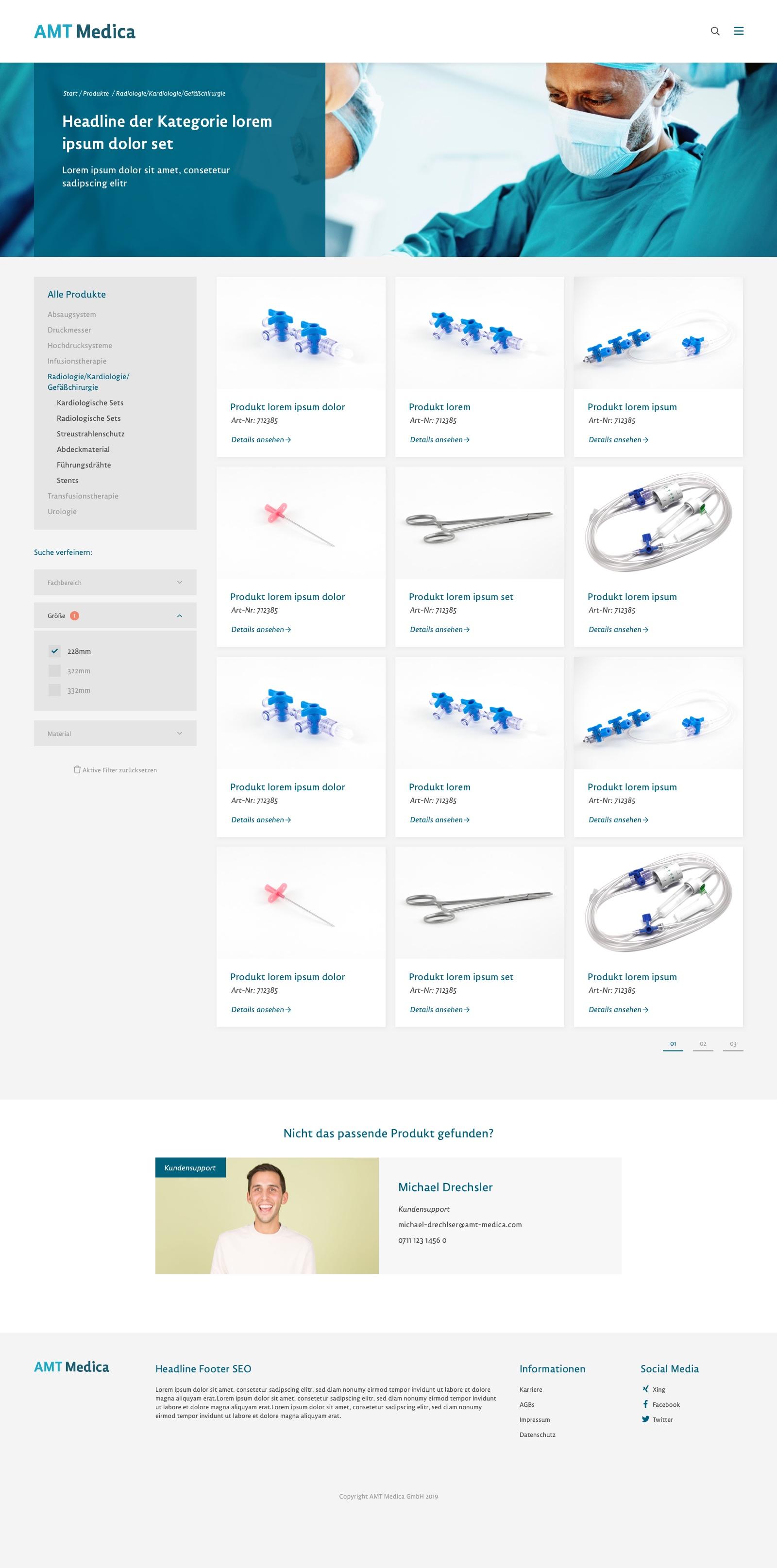 Portfolio AMT Medica Detail Produkt Liste