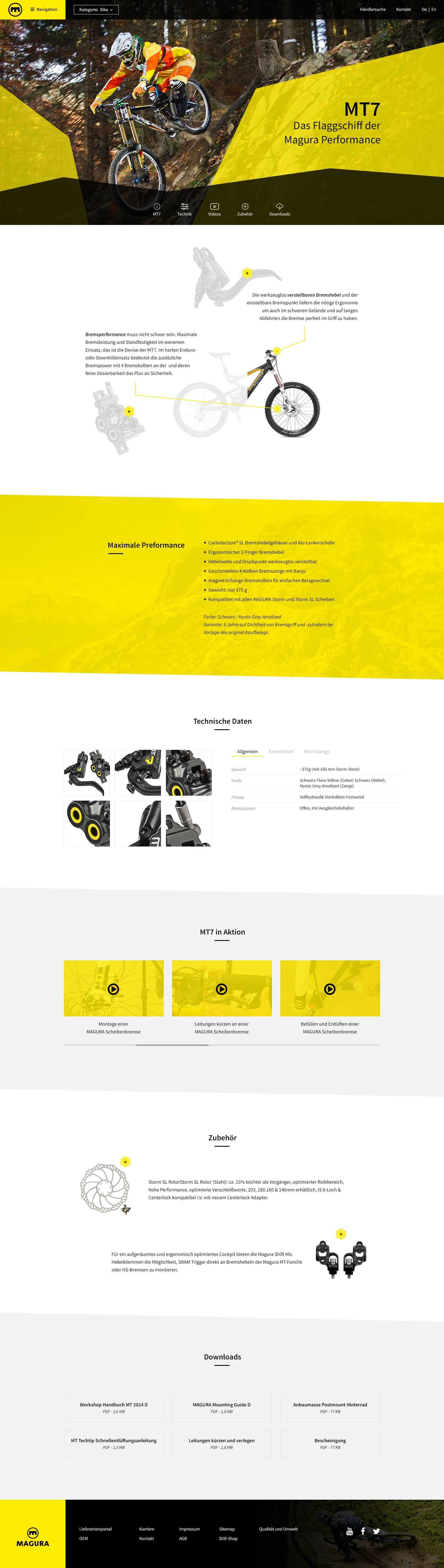 Portfolio Magura Produktseite