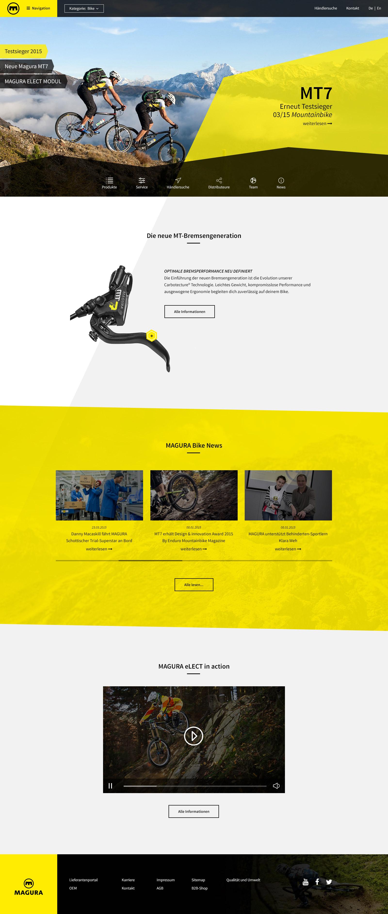 Portfolio Magura Startseite